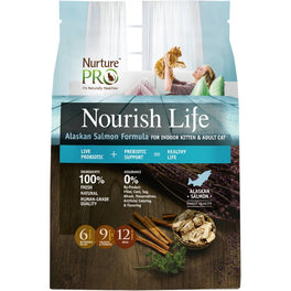 'FREE TREATS': Nurture Pro Nourish Life Alaskan Salmon Indoor Kitten & Adult Formula Dry Cat Food (Eagle Pro)