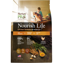 'FREE TREATS': Nurture Pro Nourish Life Chicken Mature 7+ Formula Dry Cat Food (Eagle Pro)