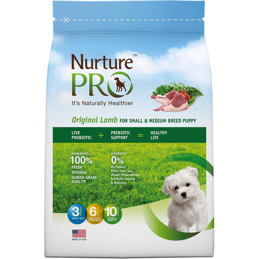 '20% OFF + FREE TREATS/FOOD': Nurture Pro Original Lamb For Small & Medium Puppy Dry Dog Food (Eagle Pro) - Kohepets
