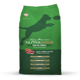 'FREE DISPENSER' + 45% OFF: NutraGold Grain Free Duck & Sweet Potato Dry Dog Food