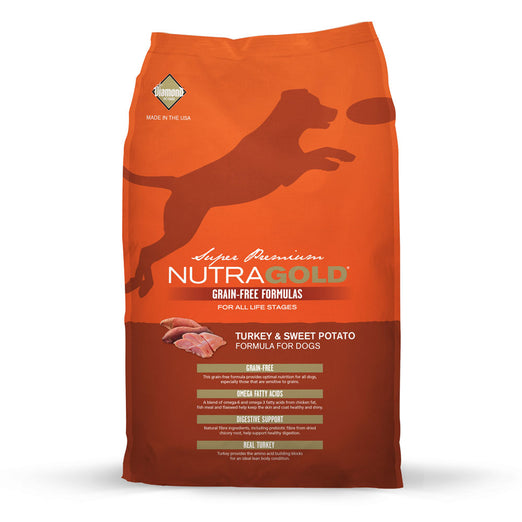 'FREE DISPENSER' + 45% OFF: NutraGold Grain Free Turkey & Sweet Potato Dry Dog Food