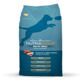 'FREE TREATS' + 50% OFF: NutraGold Grain Free Whitefish & Sweet Potato Dry Dog Food
