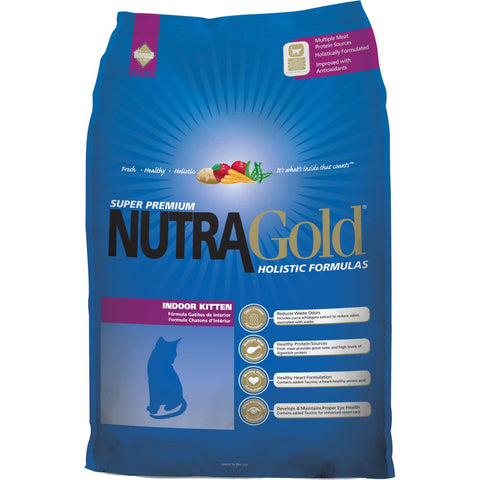 'FREE CANNED FOOD + 30% OFF': NutraGold Holistic Indoor Kitten Dry Cat Food 3kg - Kohepets