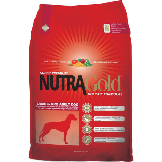 NutraGold Holistic Lamb & Rice Dry Dog Food - Kohepets