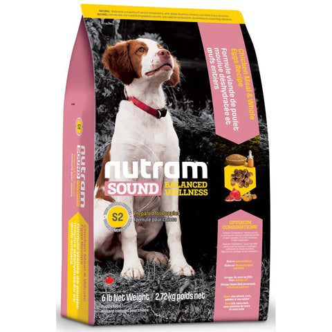 Nutram S2 Sound Balanced Wellness Chicken Meal & Whole Eggs Recipe Puppy Dry Dog Food 6lb