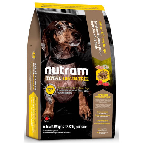 Nutram T27 Total Grain-Free Small Breed Chicken & Turkey Recipe Dry Dog Food 6lb