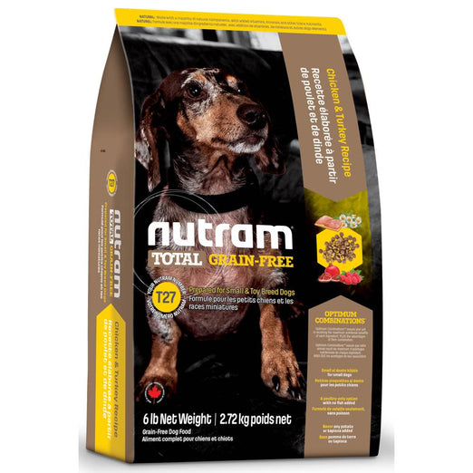 Nutram T27 Total Grain-Free Small Breed Chicken & Turkey Recipe Dry Dog Food 6lb - Kohepets