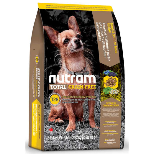 Nutram T28 Total Grain-Free Small Breed Trout & Salmon Meal Recipe Dry Dog Food - Kohepets