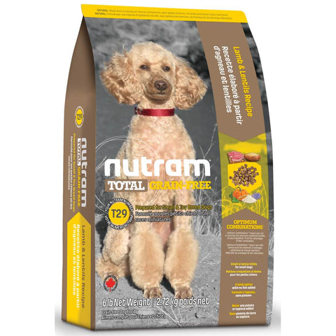 Nutram T29 Total Grain-Free Small Breed Lamb & Lentils Recipe Dry Dog Food 6lb - Kohepets