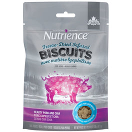 Nutrience Freeze-Dried Infused Biscuits Hearty Pork & Chia Dog Treats 135g