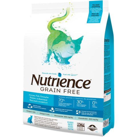 10% OFF W/ 2.5KG: Nutrience Grain Free Ocean Fish Formula Dry Cat Food - Kohepets