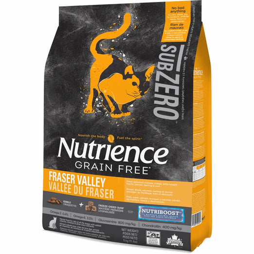 SAVE $8.10: Nutrience Subzero Fraser Valley Formula Grain Free Dry Cat Food - Kohepets