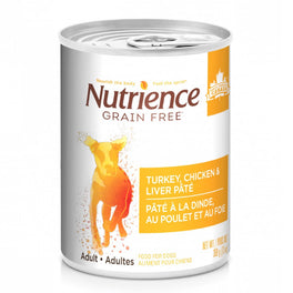 Nutrience Grain Free Turkey, Chicken & Liver Pate Canned Dog Food 369g