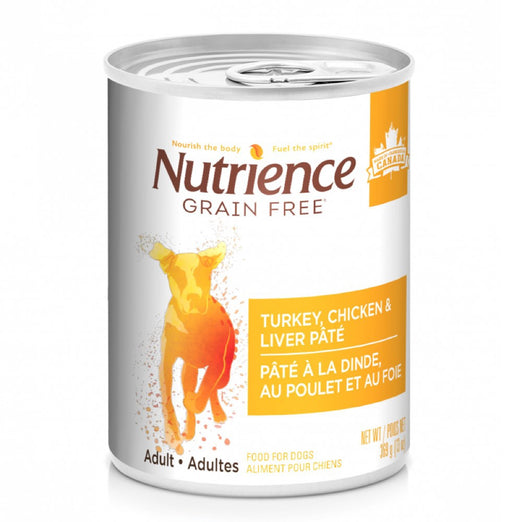 35% OFF (Exp 17 Dec): Nutrience Grain Free Turkey, Chicken & Liver Pate Canned Dog Food 369g
