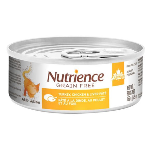 Nutrience Grain Free Turkey, Chicken & Liver Pate Canned Cat Food 156g - Kohepets