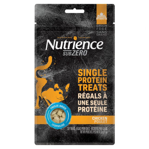 Nutrience Subzero Single Protein Treats Chicken Grain Free Cat Treats 30g - Kohepets