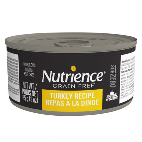 Nutrience Subzero Turkey Recipe Grain Free Canned Cat Food 85g - Kohepets