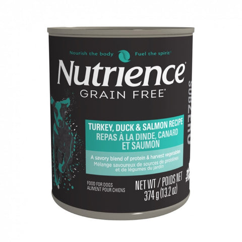 35% OFF(Exp 19 Sep): Nutrience Subzero Turkey Duck & Salmon Grain Free Canned Dog Food 374g