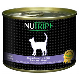 50% OFF: Nutripe Classic Beef & Green Tripe Canned Cat Food 185g (Exp 9 Aug 19)