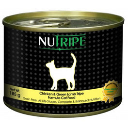 UP TO 40% OFF: Nutripe Classic Chicken With Green Tripe Canned Cat Food 185g