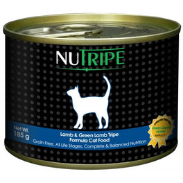 50% OFF: Nutripe Classic Lamb With Green Tripe Canned Cat Food 185g