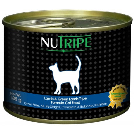 Nutripe Classic Lamb With Green Tripe Canned Cat Food 185g