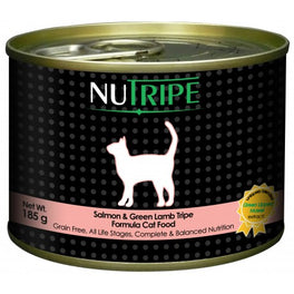 60% OFF: Nutripe Classic Salmon With Green Tripe Canned Cat Food 185g (Exp 26 Oct 19)