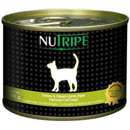 UP TO 40% OFF: Nutripe Classic Turkey With Green Tripe Canned Cat Food 185g