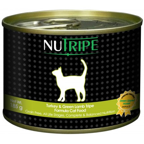 Nutripe Classic Turkey With Green Tripe Canned Cat Food 185g