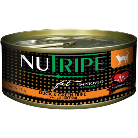 40% OFF: Nutripe Fit Duck & Green Tripe Canned Cat Food 95g