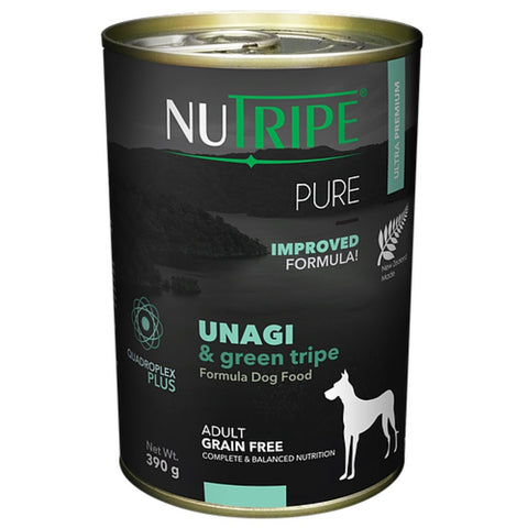 10% OFF: Nutripe Pure Unagi & Green Tripe Canned Dog Food 390g