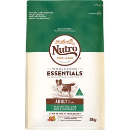 'FREE TREATS': Nutro Wholesome Essentials Pasture-Fed Lamb, Rice & Vegetables Adult Dry Dog Food
