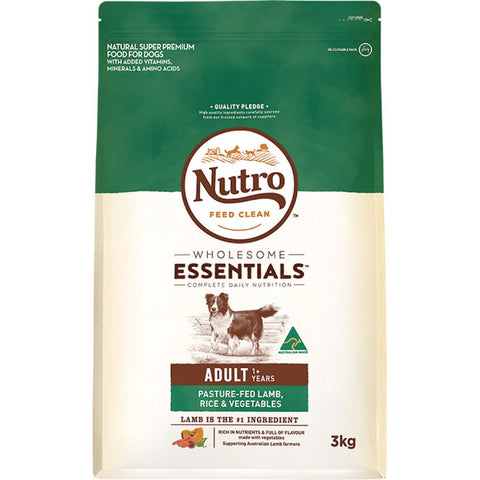 Nutro Wholesome Essentials Pasture-Fed Lamb, Rice & Vegetables Adult Dry Dog Food
