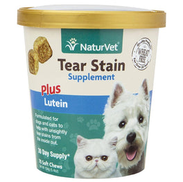 20% OFF: NaturVet Tear Stain Supplement Plus Lutein Soft Chew Cup For Dogs & Cats 70 count
