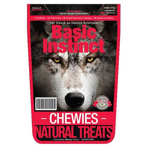Basic Instinct Chewies Dog Treats 200g