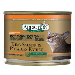 Addiction King Salmon & Potatoes Canned Cat Food 185g