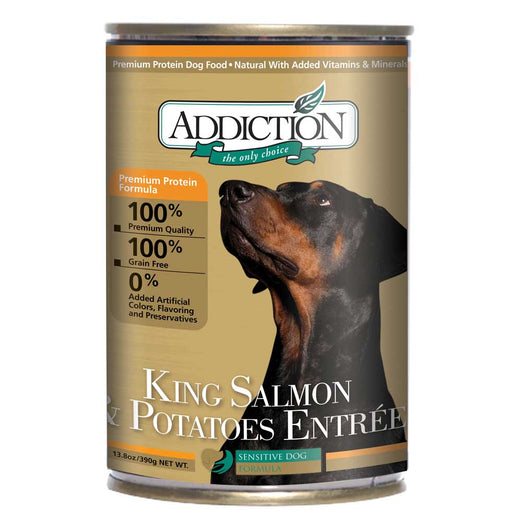 Addiction King Salmon & Potatoes Entree Canned Dog Food 390g