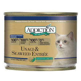 Addiction Unagi & Seaweed Entree Canned Cat Food 185g