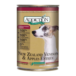 Addiction New Zealand Venison & Apples Entree Canned Dog Food 390g