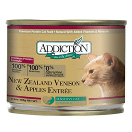 'UP TO 30% OFF': Addiction New Zealand Venison & Apples Canned Cat Food 185g