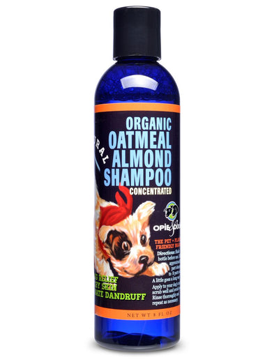 Opie & Dixie Organic Oatmeal Almond Shampoo For Dogs 8oz - Kohepets