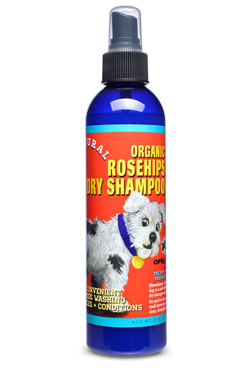 Opie & Dixie Organic Rosehips Dry Waterless Shampoo Spray For Dogs 8oz - Kohepets