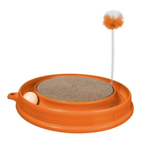 Catit Play n Scratch Toy - Orange - Kohepets