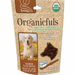 Organicfuls Salmon Flax Recipe Organic Dental Chew Dog Treats 140g