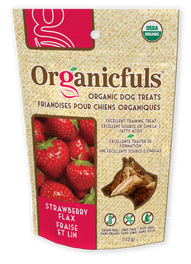 Organicfuls Strawberry Flax Organic Dog Treats 113g