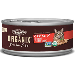 Organix Grain Free Organic Shredded Chicken Recipe Canned Cat Food 156g