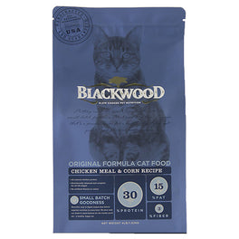 20% OFF: Blackwood Original Formula Chicken Meal & Corn Dry Cat Food 4lb (Exp 20 Sep 19)