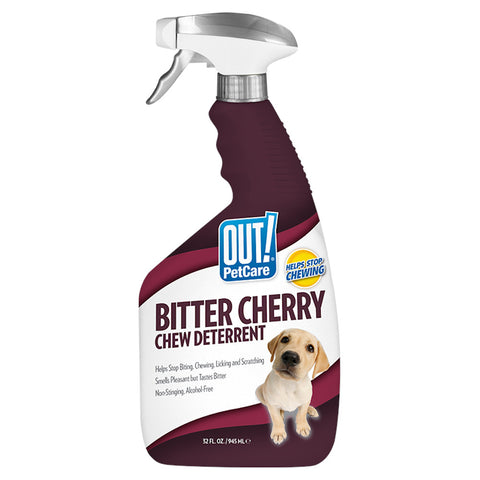 OUT! Bitter Cherry Dog Chew Deterrent Spray 945ml - Kohepets