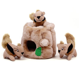Outward Hound Hide-A-Squirrel Interactive Puzzle Dog Toy Medium