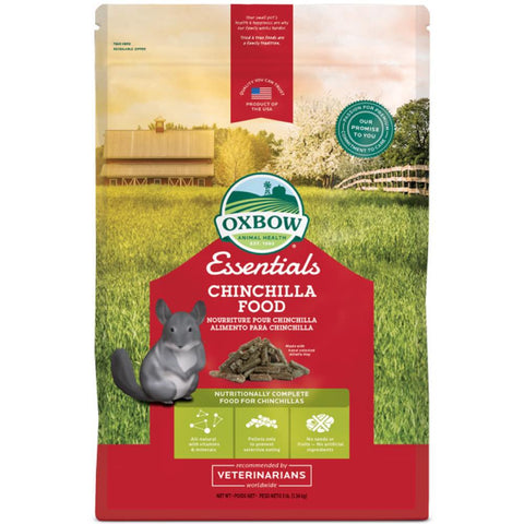 Oxbow Essentials Chinchilla Food 10lb - Kohepets